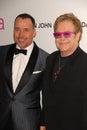 David Furnish,Elton John Royalty Free Stock Photo