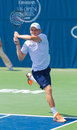 David goffin plays at the winston salem open Stock Photo