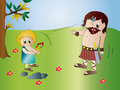David and Goliath Royalty Free Stock Photos