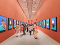 David Hockney exhibition Royalty Free Stock Photo