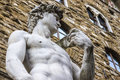The david of michelangelo detail s on square signoria in florence Royalty Free Stock Image