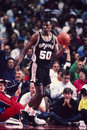 David robinson san antonion spurs former antionio great image taken from color slide Stock Image