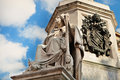 Column of the Immaculate David's statue detail Royalty Free Stock Photo