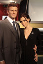 David and victoria beckham wax statues at madame tussauds in london Stock Photography