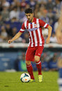 David villa of atletico de madrid in action during a spanish league match against rcd espanyol at the estadi cornella on october Stock Photo