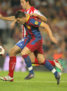 David Villa of Barcelona Stock Photography