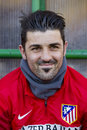 David Villa d'Atletico De Madrid Photo libre de droits