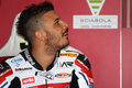 Davide giugliano on aprilia rsv factory with althea racing team superbike wsbk riding at world championship imola Stock Images