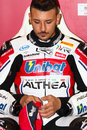 Davide giugliano on aprilia rsv factory with althea racing team superbike wsbk riding at world championship monza Stock Images