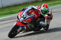 Davide giugliano on aprilia rsv factory with althea racing team superbike wsbk riding at world championship monza Stock Photos