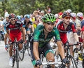 Davide malacarne climbing alpe d huez france july the italian cyclist from europcar team the difficult road to during Royalty Free Stock Photo