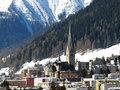 Davos view on a platz switzerland Stock Photography