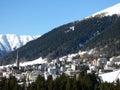 Davos on winter morning switzerland Royalty Free Stock Photos