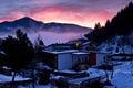 Dawn at the Alps Royalty Free Stock Photo