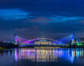 Dawn and a bridge in putrajaya malaysia Stock Photography