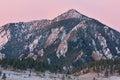 Dawn Flatirons of Bear Peak Royalty Free Stock Photo