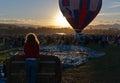 Dawn at the Great Reno Balloon Race Royalty Free Stock Photo