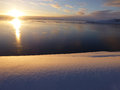 Dawn mitchell peninsula antarctica a beautiful in with this panoramic delight Stock Photo