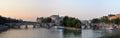 Dawn Panorama of the Ile de la Cite & The Seine River, Paris Fra Royalty Free Stock Photo