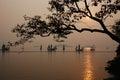 Sunset in Turtle-head Peninsula Park Royalty Free Stock Photo