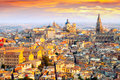 Dawn view of Toledo Royalty Free Stock Photo