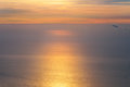 Dawning Sky and Sea on Sunrise morning beautiful Infinity scenery Background