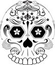 Day of the Dead Line Art Sugar Skull Stock Photo