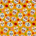 Day of the Dead seamless pattern Royalty Free Stock Photo