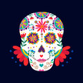 Day of the dead skull for mexican celebration Royalty Free Stock Photo