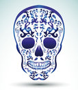 Day of the dead skull tattoo skull eps available Royalty Free Stock Photo