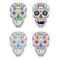 Day Of The Dead Skull Vector Set on background Royalty Free Stock Photo