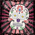 Day of the Dead Sugar Skull Vector Royalty Free Stock Photo