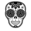 Day dead sugar skull white background Stock Photos