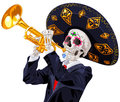 Day of the Dead Trumpet Player Royalty Free Stock Photo