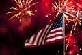 Day fireworks independence Arkivfoton