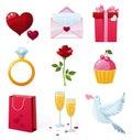 Day icons s st valentine Стоковое Фото