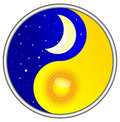 Day and night yin yang Royalty Free Stock Images