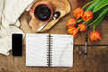 Day Planner and Coffee Royalty Free Stock Photo