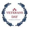 Day veteran usa banner, vector illustration flat, text Royalty Free Stock Photo