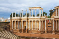 Day view of Antique  Roman Theatre at Merida Royalty Free Stock Photo