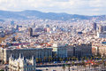Day view of barcelona cityscape catalonia spain Royalty Free Stock Photo