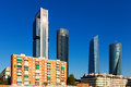 Day view of Cuatro Torres Business Area. Madrid