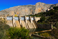 Day view of dam at Chorro river Royalty Free Stock Photo