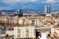 Day view of picturesque barcelona cityscape catalonia spain Stock Images