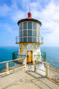 Day view on Point Bonita Lighthouse and skyline Royalty Free Stock Photo