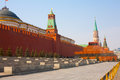 Day view of the red square moscow kremlin and lenin mausoleum russia Royalty Free Stock Image