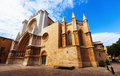 Day view of tarragona cathedral catalonia spain Stock Photo