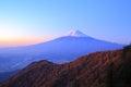 Daybreak at the mt fuji yamanashi japan Royalty Free Stock Photography