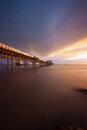 Daybreak at Mumbles pier Royalty Free Stock Photo