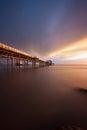 Daybreak at Mumbles pier Royalty Free Stock Photo